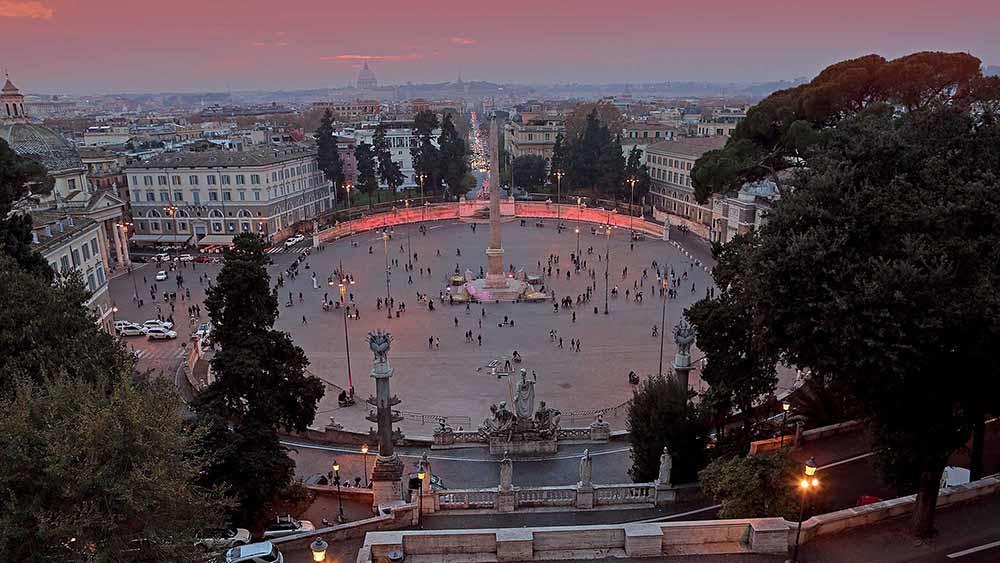Il Pincio E Piazza Del Popolo Gaudium Magnum